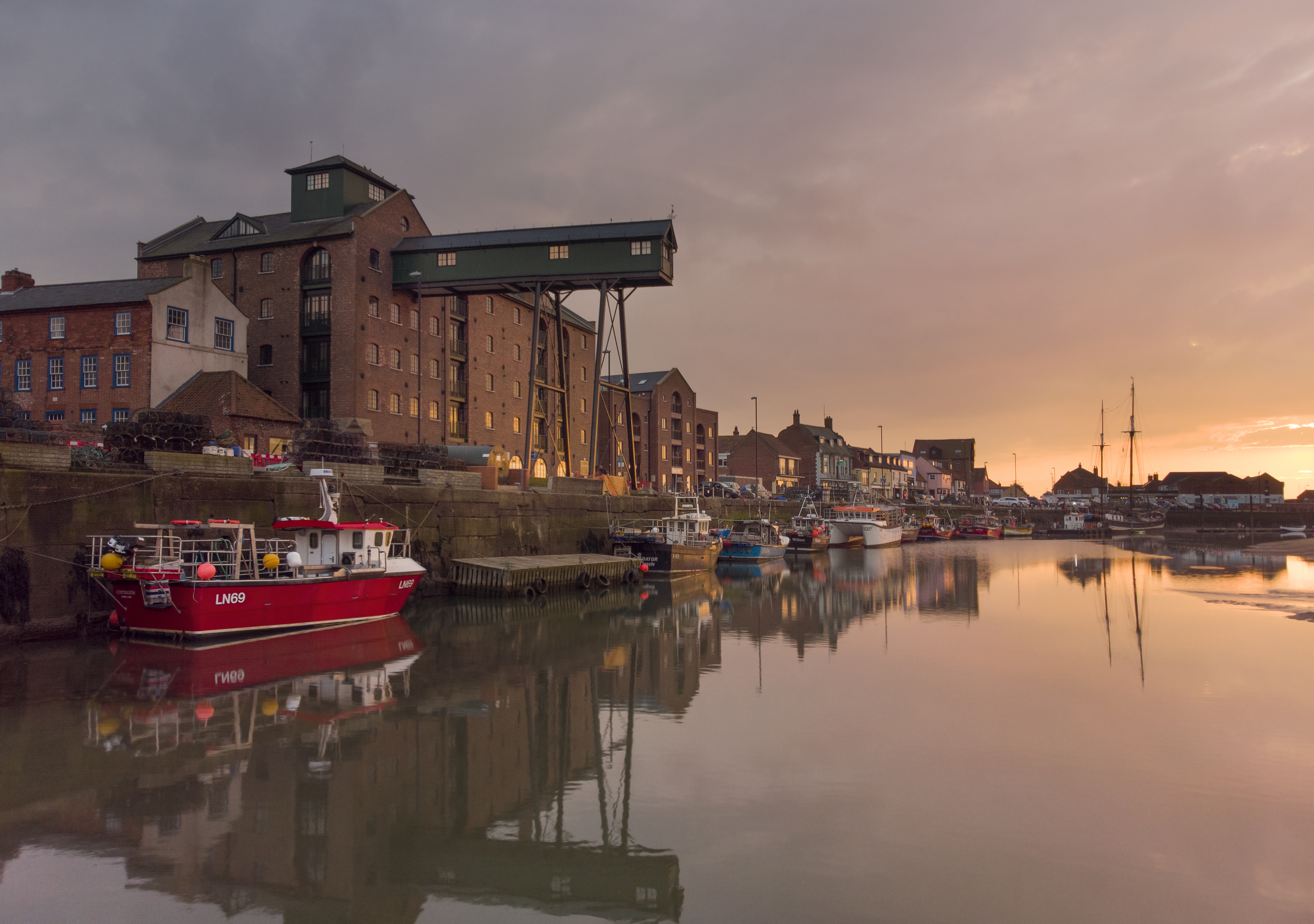 the granary at sunset