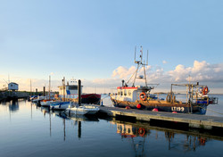 sunset over the pontoon
