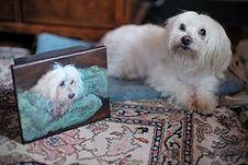 Bentley with his Portrait