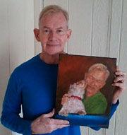 Happy Customer With Portrait