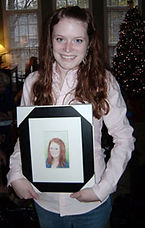 Sydney with her Portrait