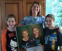 Happy Customers With Portrait
