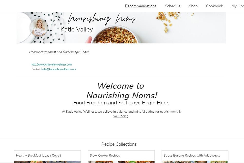 Nourishing Noms Meal Planning Platform