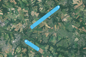 Screen Shot of GIS Processing of Drone Data collected during mission.