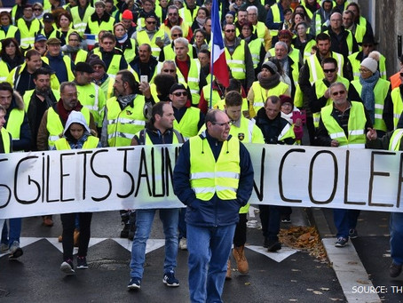 Yellow vests and the Davos freeze