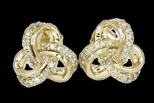 Celtic Knot Diamond earrings