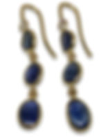 Sapphire and diamond 18 karat gold earri