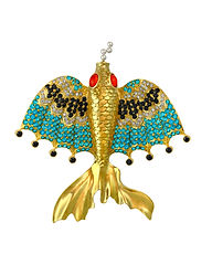 Flying fish of Mandalay with diamonds ap