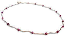 Ruby 14 karat gold necklace