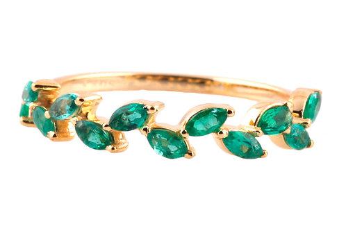 Sapphire wreath ring 18 karat gold