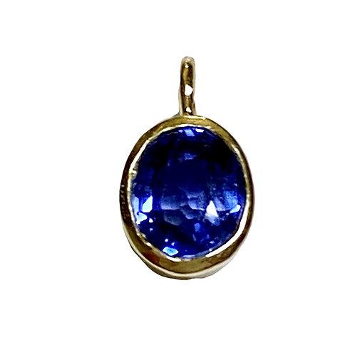 Ceylon Sapphire pendant 14 karat gold