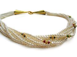 Pearl precious gem torsade