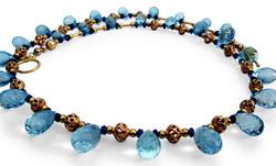 Blue Heaven aqua sapphire necklace