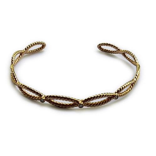 Diamond bangle bracelet 18 karat rose gold