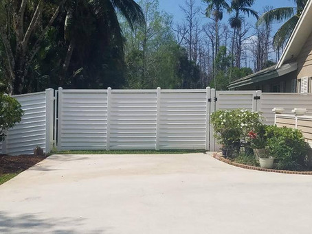 What is the purpose of a fence around the house?