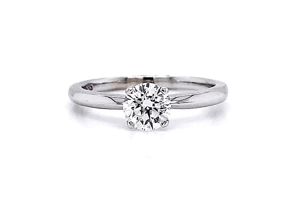 14kt White Gold 0.73ct Round Diamond Solitaire Ring