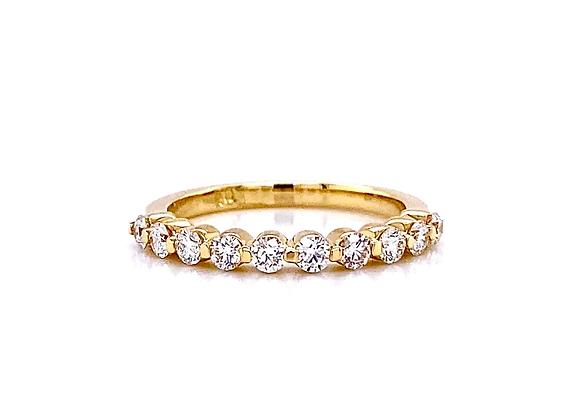 14kt Yellow Gold Ladies Round Diamond Band