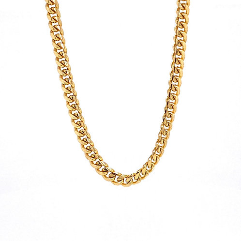 "14kt Yellow Gold 22"" 3.30mm Miami Cuban Link Chain"