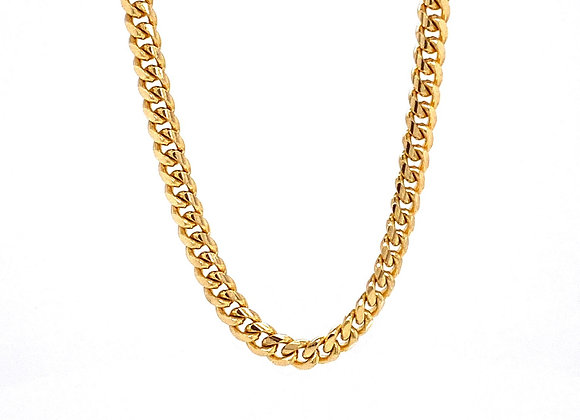 "14kt Yellow Gold 20"" 3.30mm Miami Cuban Link Chain"