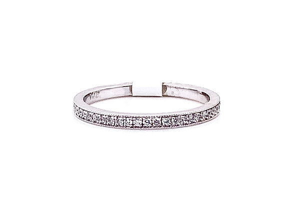 14kt White Gold Ladies Diamond Pave Style Band