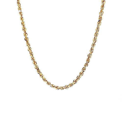 """14kt Yellow Gold 22"""" 1.75mm Rope Chain"""
