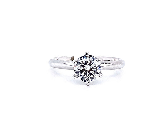 14kt White Gold 0.82ct Round Diamond Solitaire Ring