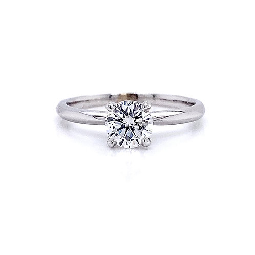 14kt White Gold 0.74ct Round Diamond Solitaire Ring