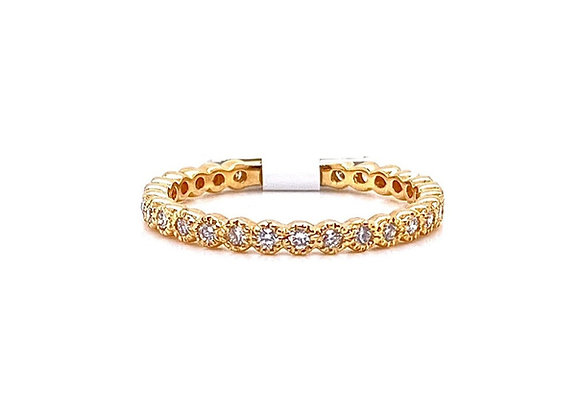 14kt Yellow Gold Ladies Round Mini Bezel Band