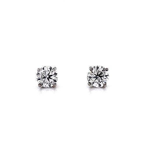 14kt White Gold 1.80ctw Round Diamond Stud Earrings