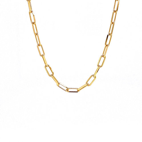 """14kt Yellow Gold 20"""" 3.5mm Paperclip Chain"""