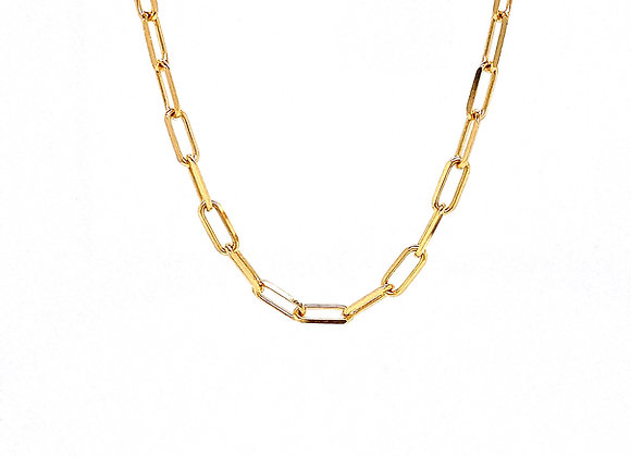 "14kt Yellow Gold 20"" 3.5mm Paperclip Chain"