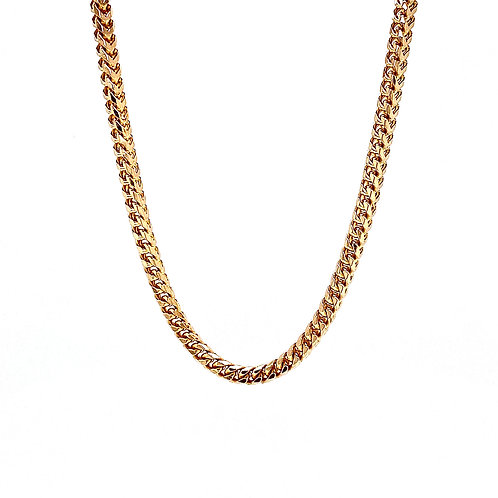"""14kt Yellow Gold 24"""" 2.5mm Franco Style Chain"""
