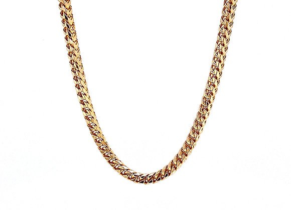 "14kt Yellow Gold 24"" 2.5mm Franco Style Chain"