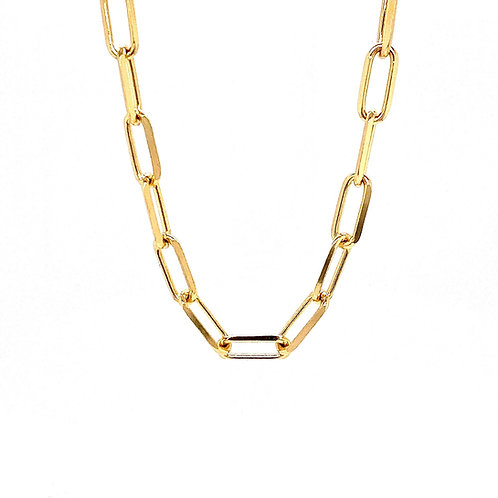 """14kt Yellow Gold 24"""" 5.5mm Paperclip Chain"""