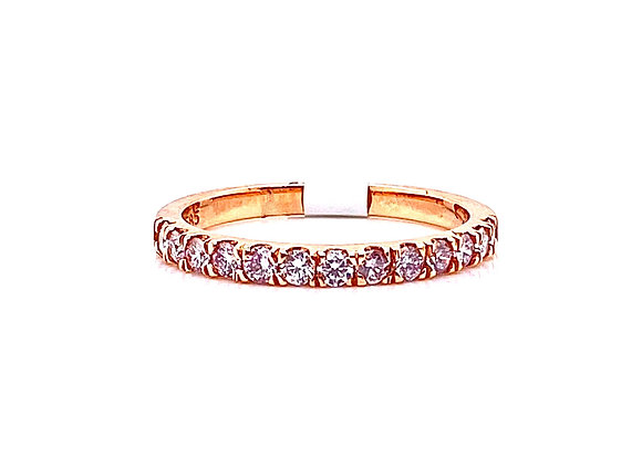 14kt Rose Gold Fancy Purplish-Pink Diamond Ladies Band