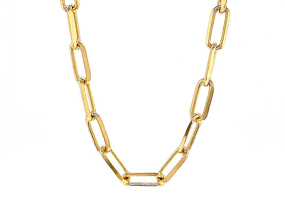"""14kt Yellow Gold 22"""" 4.2mm Paperclip Chain"""