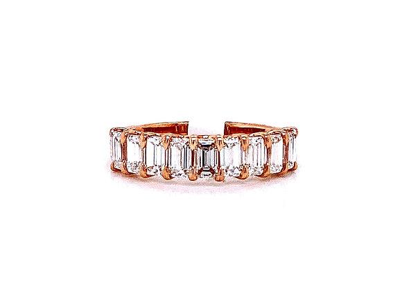 18kt Rose Gold Ladies 1.33ctw Emerald Cut Diamond Band