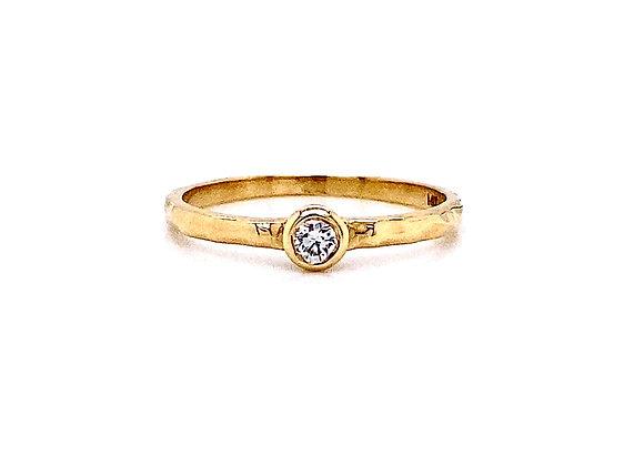 14kt Yellow Gold Single Round Diamond Band