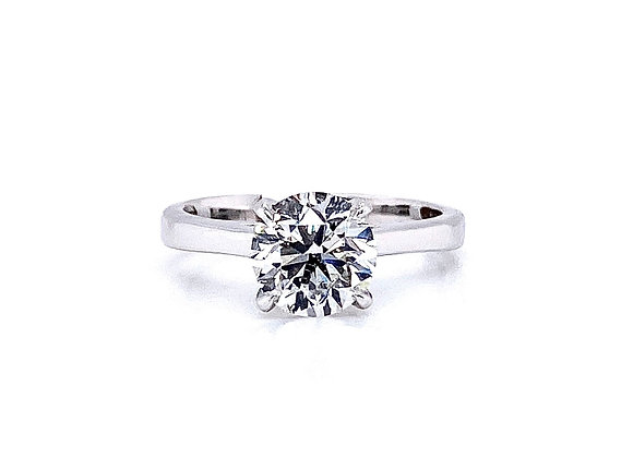 14kt White Gold 1.50ct Round Diamond Solitaire Ring