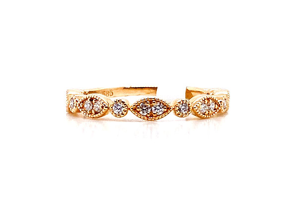 14kt Yellow Gold Vintage Style Ladies Band