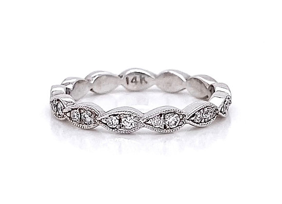 14kt White Gold 0.30ctw Round Diamond Band