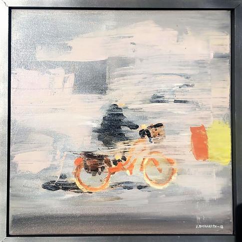 Orange sykkel 1