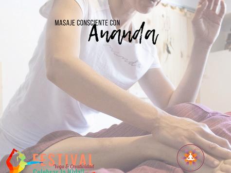 El arte del masaje consciente con Ananda