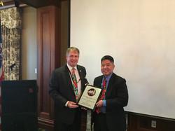 LtCol Jeff Squeel Kawada EW Exceptional Service Award