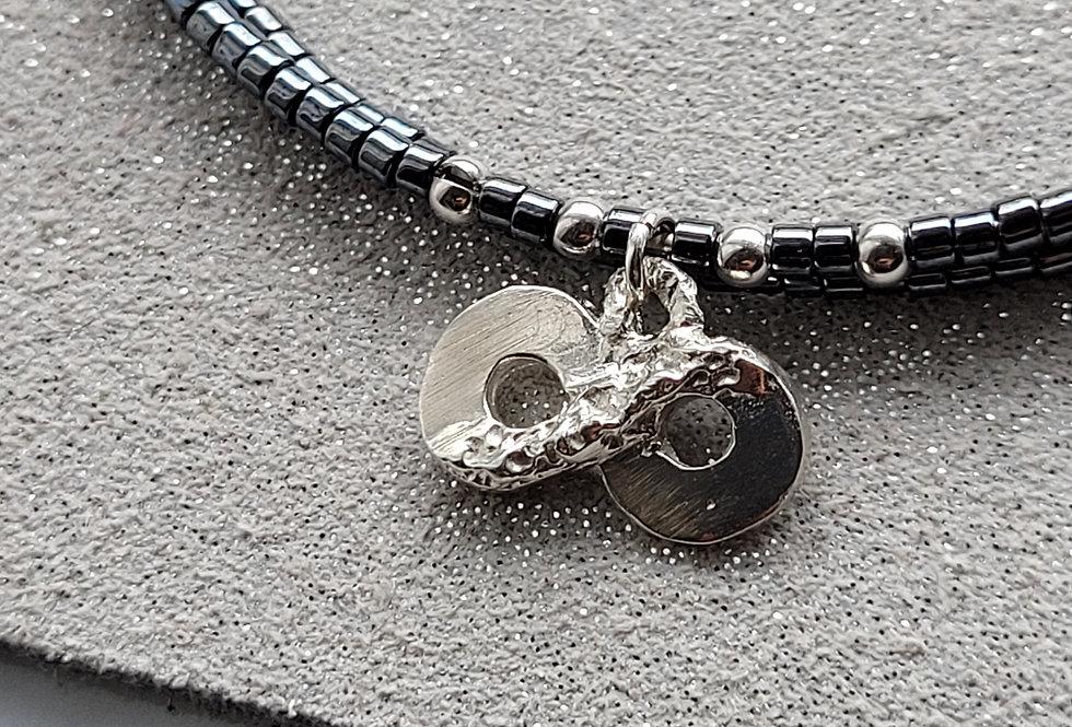 Infinity Bracelet Gunmetal