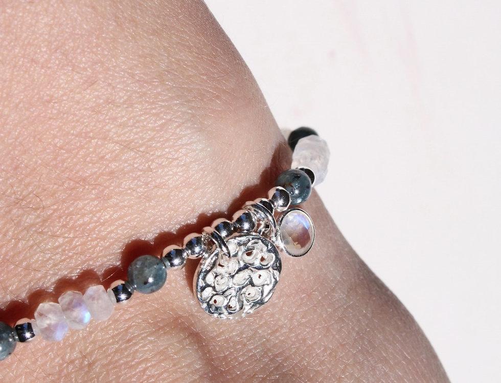 Moonstones & Kyanite Bracelet