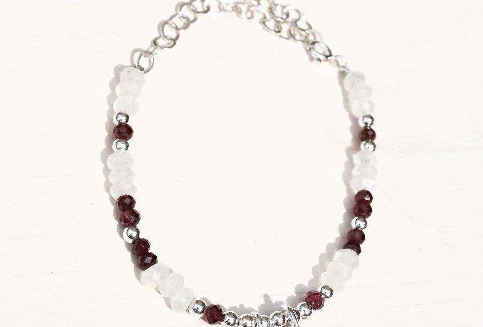 Garnet & Moonstone Bracelet