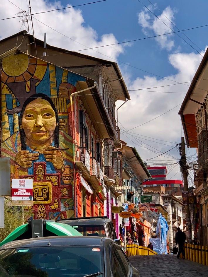 Die Hexenstraße in La Paz, Bolivien