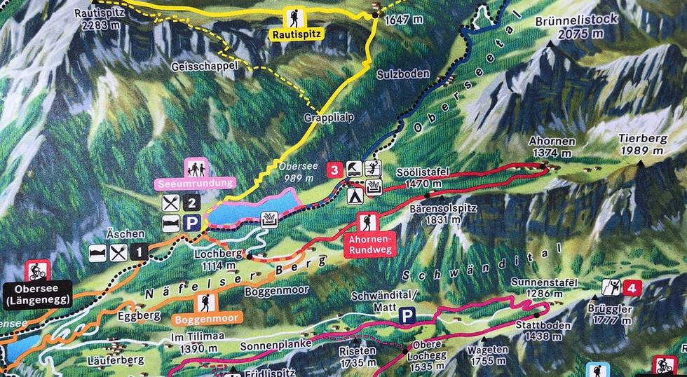 Karte Oberseeregion Näfels