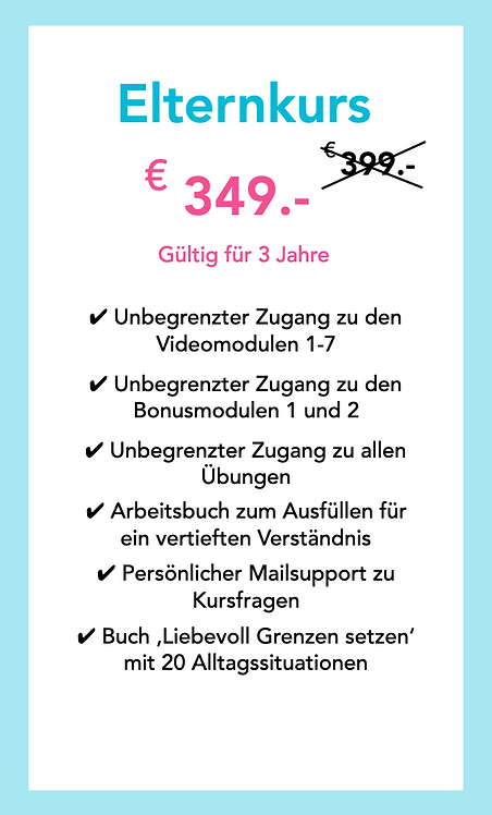 Elternkurs - Special Offer